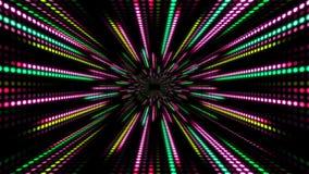 El fondo abstracto de la tecnología con la cámara lenta de la animación de la luz raya rosa del verde del círculo del punto ilustración del vector