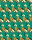 El fondo abstracto de los pájaros, forma el modelo inconsútil, papel pintado del vector Imagenes de archivo