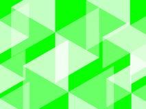 El fondo abstracto del hexágono y del polígono en verde del colorbright del verde del UFO evoca campos enormes stock de ilustración