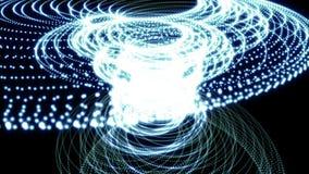 El fondo abstracto del movimiento, partículas brillantes de las luces, coloca capaz stock de ilustración