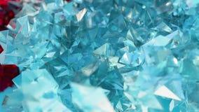 El fondo abstracto del scifi con el vidrio y los cristales en rubí y piedra preciosa diseñan ilustración del vector
