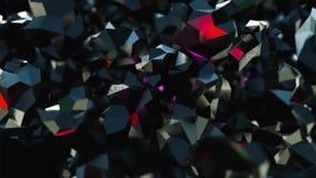 El fondo abstracto del scifi con el vidrio y los cristales en rubí y piedra preciosa diseñan stock de ilustración