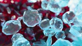 El fondo abstracto del scifi con el vidrio y los cristales en rubí y piedra preciosa diseñan libre illustration