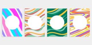 El fondo abstracto del sistema mínimo cubre diseño Pendientes de semitono coloridas Modelos geométricos futuros Eps10 vector i libre illustration