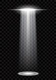 El fondo abstracto del UFO con los haces brillantes aisló vector Fotos de archivo libres de regalías