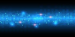 El fondo abstracto del vector muestra la innovación de la tecnología y de los conceptos de la tecnología Imagen de archivo libre de regalías