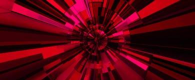 El fondo abstracto digital rojo ilustración 3D stock de ilustración