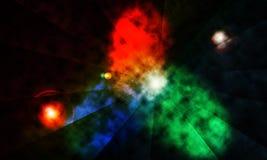 El fondo abstracto, espacia tema nebuloso Fotografía de archivo