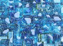 El fondo abstracto futurista digital alisa textura Foto de archivo libre de regalías