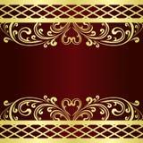 El fondo adornó una frontera del vintage del oro. Foto de archivo libre de regalías