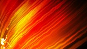 El fondo anaranjado brillante con muchas líneas curvadas y la luz, fondo abstracto moderno generado por ordenador, 3d rinden almacen de video