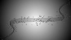 El fondo animado con las notas musicales, música observa fluir libre illustration