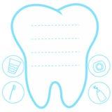 El fondo azul blanco del diente, dientes vector diente del ejemplo del icono el primer ilustración del vector
