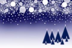 El fondo azul marino de la Navidad Foto de archivo