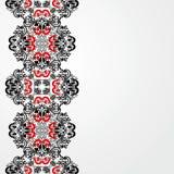 El fondo blanco adornó una frontera rojo-negra. Fotografía de archivo libre de regalías