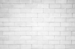El fondo blanco de la pared de ladrillo Fotos de archivo libres de regalías