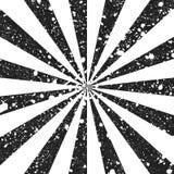 El fondo blanco y negro rasguñado del grunge en la forma de sol irradia libre illustration