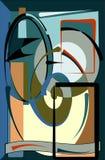 El fondo colorido abstracto, desea el azul gris 17 -271 b del marrón de las formas curvadas Foto de archivo libre de regalías