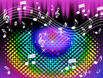 El fondo colorido de la música significa a Harmony And Song Fotografía de archivo