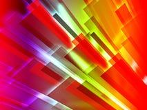El fondo colorido de las barras muestra diseño gráfico Fotografía de archivo