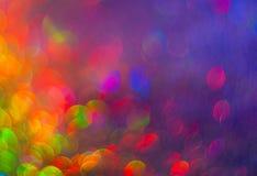 El fondo colorido unfocused de luces abstractas imagen de archivo