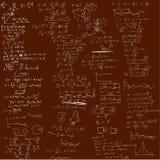 El fondo con fórmulas físicas Imagen de archivo