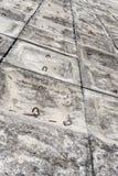 El fondo concreto gris del modelo del terraplén Imagen de archivo