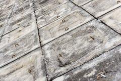 El fondo concreto gris del modelo del terraplén Foto de archivo libre de regalías