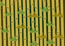 El fondo de bambú Imágenes de archivo libres de regalías