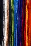 El fondo de colorido wollen la materia textil Fotografía de archivo libre de regalías