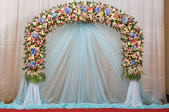 El fondo de la boda hermosa de la flor adorna Foto de archivo libre de regalías