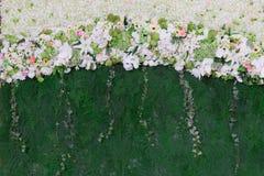 El fondo de la boda hermosa de la flor adorna Fotos de archivo