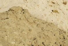 El fondo de la construcción de la pila de la arena Imagen de archivo