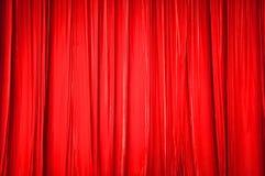 El fondo de la cortina roja Fotografía de archivo libre de regalías