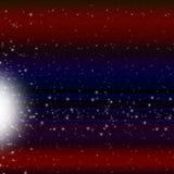 El fondo de la estrella fugaz muestra a Celestial Body And Meteorite Foto de archivo