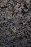 El fondo de la humus del suelo, textura negra del suelo de arcilla, mancha orgánico para plantar imágenes de archivo libres de regalías