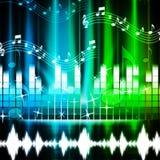 El fondo de la música muestra las canciones Harmony And Melody Fotografía de archivo