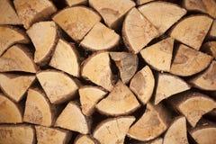 El fondo de la madera tajada Foto de archivo libre de regalías