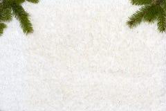 El fondo de la Navidad tiene árboles de navidad Fotografía de archivo libre de regalías