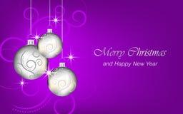 El fondo de la Navidad y del Año Nuevo wallpaper para la tarjeta de felicitación Foto de archivo