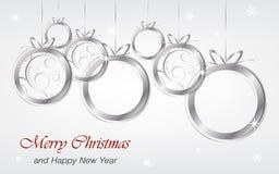 El fondo de la Navidad y del Año Nuevo wallpaper para la tarjeta de felicitación Fotos de archivo