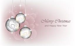 El fondo de la Navidad y del Año Nuevo wallpaper para la tarjeta de felicitación Imagenes de archivo