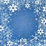 El fondo de la nieve recicla el arte de papel Imágenes de archivo libres de regalías