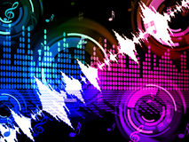 El fondo de la onda acústica significa el mezclador del amplificador audio o de la música Foto de archivo