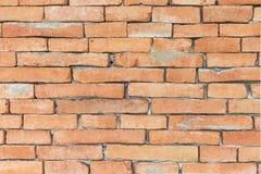 El fondo de la pared de ladrillo anaranjada está bajo construcción Foto de archivo