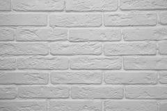 El fondo de la pared de ladrillo blanca foto de archivo