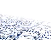 El fondo de la tarjeta de circuitos se descolora Imagen de archivo libre de regalías