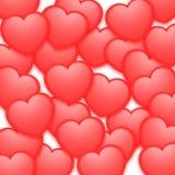 El fondo de la tarjeta del día de San Valentín Foto de archivo libre de regalías