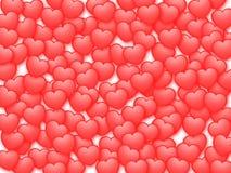 El fondo de la tarjeta del día de San Valentín Imagen de archivo libre de regalías