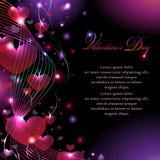 El fondo de la tarjeta del día de San Valentín colorida Foto de archivo libre de regalías